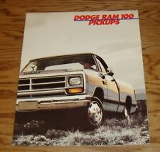 Original 1987 Dodge Ram 100 Pickup Deluxe Sales Brochure 87