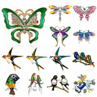 Fashion Crystal Butterfly Bird Swallow Animal Brooch Pin Women Charms Jewelry