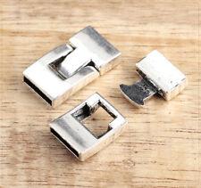 2x Lederband Steck Clip Verschluss Endkappen Schmuck DIY Basteln 15x28mm sz468
