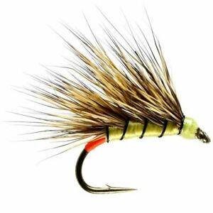 Yellow Owl Sedgehog - Size 12 - Trout Fly Fishing