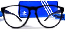 Adidas Original Black Round Shade Specs Pouch Case Glasses Clear Lens Sunglasses