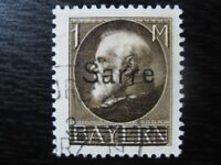 SAAR SAARLAND Mi. #27 scarce used overprint stamp! CV $48.00
