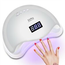 White Lamp UV Light 48W Sun5 Nail Art Dryer Gel Cure Polish Smart Sensortimer US