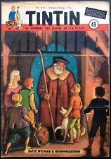TINTIN Édition belge fascicule n°49 du 5 décembre 1951 + supplément Bon état