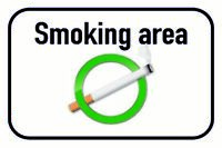 Smoking Area Blechschild Schild gewölbt Metal Tin Sign 20 x 30 cm CC0647