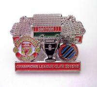 Manchester United / Old Trafford Football Pin Badge v Club Brugge KV