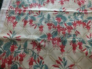Vintage Laura Ashley Fabric - Fuchsia 72cm x 120cm