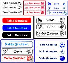 Etiquetas para marcar la ropa, pegado con plancha (50 unidades)