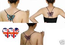 Bra Strap Sexy Butterfly Cross Shoulder Holder-Elastic-Colors(Blue-pink-purple)