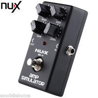 NUX AS - 4 Modern Amplifier Simulator Guitar Effect Pedal True Bypass LED Screen