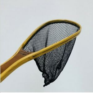 Handcrafted Wood Fishing Net - 19 Inch