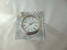 WATERFORD Crystal  Block Paperweight Clock, still has Label