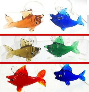Aquarium decorations ~ 2 Floating Fish ~ Multiple Colors Available!