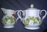 Vintage Lenwile Ardalt Springtime ~Butterflies Strawberries ~Creamer And Sugar~