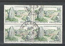 R1253 - FRANCIA  1965 - QUARTINA TEMATICA CARNAC   USATA - VEDI FOTO