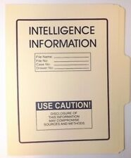 Intelligence Info Folder NRO DOD FBI DIA NSA CIA MI6 NSC NCIC ONI DCI POLICE