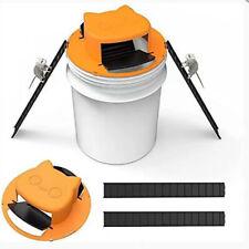 Creative Flip N Slide Bucket Lid Mouse Trap Humane Or Lethal Trap Door Reusable~
