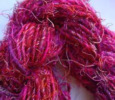 Sari Silk Premium Yarn, Fuchsia/Pink Multi 100g Textiles/Knitting/Crochet/Weave