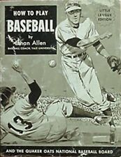 HOW TO PLAY BASEBALL, 1953 BKLT (ETHAN ALLEN, FRED LINDSTROM + 8 COLLEGE COACHES