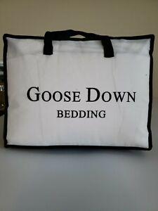 LUOSIFEN White Goose Down Comforter King Size Duvet Insert Egyptian Cotton Ultra