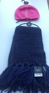 Next ladies hat and scarf set one size