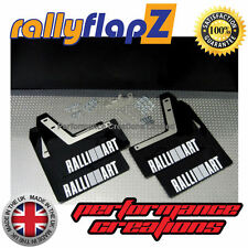 Mud Flaps MITSUBISHI EVOLUTION EVO 8 Mudflaps 3mm Black Ralliart White (4mm PVC)