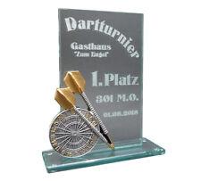 """Dart-Glaspokal """"Resin-Figur"""" mit Ihrer Wunschgravur"""