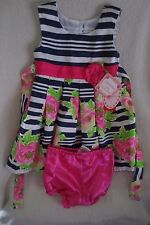 Girl Jane Michelle 2 pieces Dress With Diaper Cover Size 24 Months -2T New