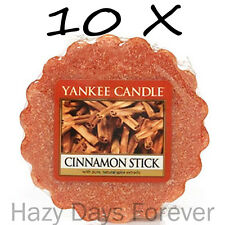 10 YANKEE CANDLE WAX TARTS Cinnamon Stick FREE P&P TARTLETS MELTS Spicy Brown