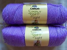 Caron Simply Soft Light yarn, Pansy (lavender), lot of 2 (330 yds each)