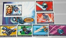 Madagascar MALAGASY 1987 1058-63 a bloc 42 a 792-798 Halley 's Comet space MNH