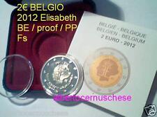 2 euro 2012 BE proof PP BELGIO Belgique Belgium Belgica Belgien Queen Elisabeth