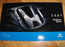 2007 Honda Civic Navigation  Owners Manual