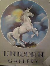 VTG UNICORN GALLERY POSTER 1983 SCAFA-TORNABENE NO 001-6555 LITHO IN U.S.A.