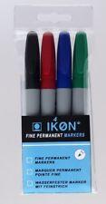 1 PK 4 Assorted FINE Tip 0.8MM SMCO PERMANENT MARKER Pens K90 Waterproof