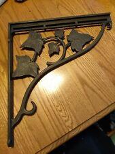 Wrought Iron Leaf Design Decorative Shelf Bracket 12 inch