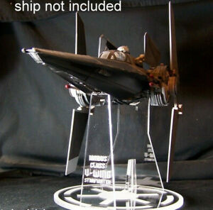 acrylic display stand for Hasbro Star Wars V-wing Fighter
