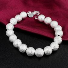Beaded Scrub Bracelet Fashion Women Sale New Fashion 925 Sterling Silver 8Mm