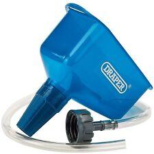Draper 26327 Engine Car Oil Funnel With Tube Holds Square Rectangular Bottles