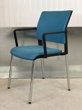 EX-SHOWROOM:CONTEMPORARY GERMAN DESIGN/BLUE/FULLY UPHOLSTERED OFFICE/HOME CHAIR