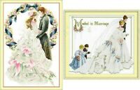 "New Finished completed cross stitch ""Wedding""Home Decor Gifts"