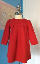 Janie And Jack Red Dress Signature Layette Line Size 18-24 Months