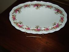 "Vintage WALBRZYCH Fine China Platter 11"" Gold Trim Scallop"