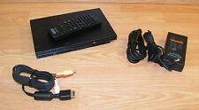 Genuine Sony (SCPH-75001) PS2 Slim Charcoal Black Console Bundle **READ**