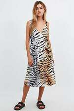 Somedays Lovin 'Molopo Animal Print Wrap Midi Dress-XS-RRP £ 65-NUOVO
