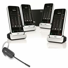 Gigaset SL910A Premium Cordless Phone 4 Handset with Wireless Headset DECT