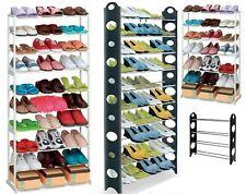 Zapato Rack de almacenamiento archivar Organizador Ordenado de 12 a 50 par Rack Pié
