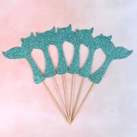 sirène Fishtail drapeau gâteau Topper anniversaire décoration fête cadeau fi sl