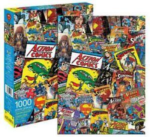1000 piece Retro DC Comics SUPERMAN 'Comic Cover Collage' Puzzle Licensed