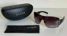 NEW! GUESS GUNMENTAL BLACK SHIELD SUNGLASSES SHADES SUNNIES GU7007 SALE